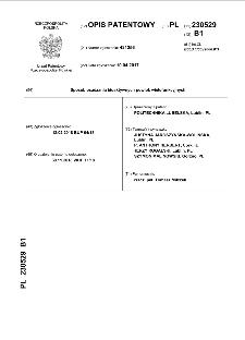 Sposób osadzania bioaktywnych powłok wielofunkcyjnych : opis patentowy nr 230529