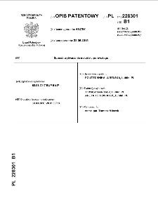Sposób wytwarzania materiału porowatego : opis patentowy nr 228301