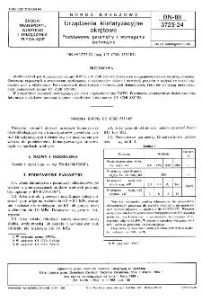 Urządzenia klimatyzacyjne okrętowe - Podstawowe parametry i wymagania techniczne BN-88/3723-24