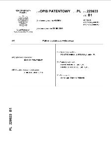 Platforma załadowczo-wyładowcza : opis patentowy nr 229633