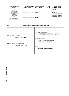Urządzenie do kształtowania i przecinania folii : opis patentowy nr 229692