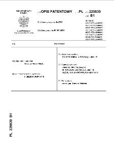 Wytłaczarka : opis patentowy nr 229839