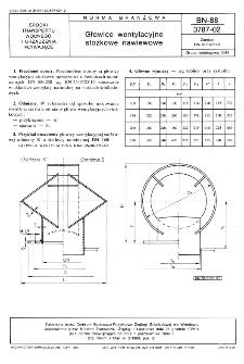 Głowice wentylacyjne stożkowe nawiewowe BN-88/3787-02