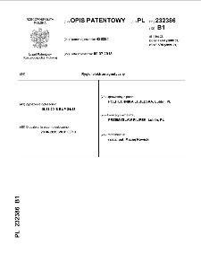 Rygiel elektromagnetyczny : opis patentowy nr 232386