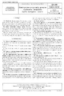 Elektryczne przyrządy grzejne kuchenne okrętowe - Ogólne wymagania i badania BN-89/3083-24/00