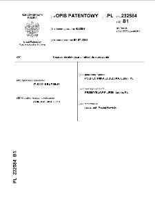 Urządzenie elektryczne i układ do sterowania : opis patentowy nr 232584