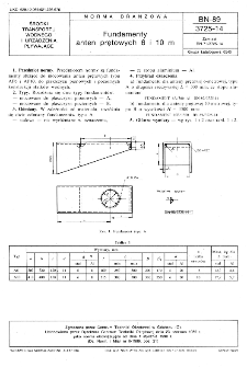 Fundamenty anten prętowych 6 i 10 m BN-89/3725-14