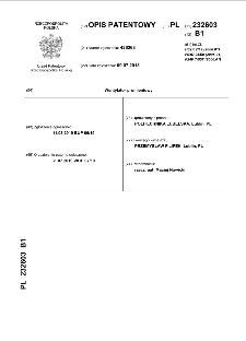Wentylator promieniowy : opis patentowy nr 232603