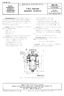 Filtry stalowe spawane okrętowe BN-89/3732-25
