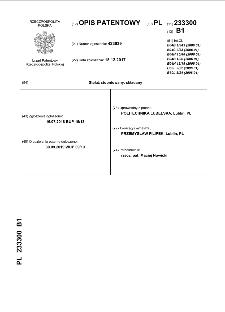 Stelaż stopniowany, składany : opis patentowy nr 233300