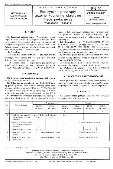 Elektryczne przyrządy grzejne kuchenne okrętowe - Piece piekarnicze - Wymagania i badania BN-90/3083-24/02