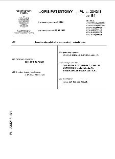 Sposób wstępnej obróbki rzęsy wodnej – rodzaj Lemna :opis patentowy nr 234218