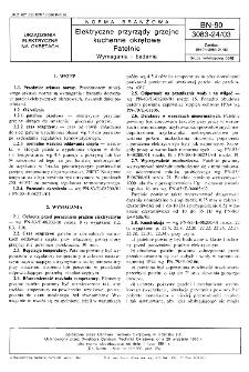Elektryczne przyrządy grzejne kuchenne okrętowe - Patelnie - Wymagania i badania BN-90/3083-24/03