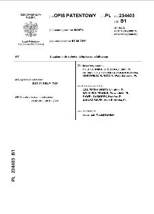Urządzenie do spieniania lepiszcza asfaltowego : opis patentowy nr 234403