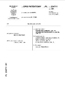 Sposób stymulacji roślin : opis patentowy nr 234711