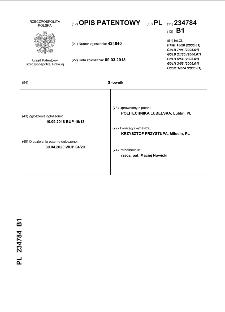 Siłownik : opis patentowy nr 234784
