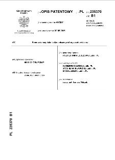 Komora do nagniatania dynamicznego strugą wodno-ścierną : opis patentowy nr 235370
