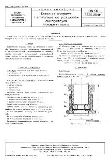 Dławice okrętowe niemetalowe do przewodów elektrycznych - Wymagania i badania BN-90/3725-26/01