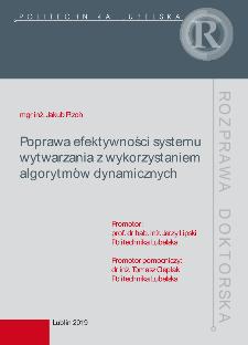 Poprawa efektywności systemu wytwarzania z wykorzystaniem algorytmów dynamicznych