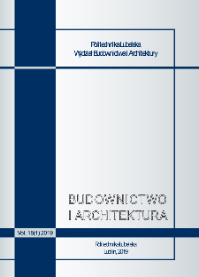 Budownictwo i Architektura Vol. 18(1)2019