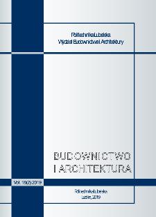 Budownictwo i Architektura Vol. 18(2)2019