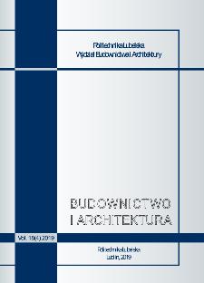 Budownictwo i Architektura Vol. 18(4)2019