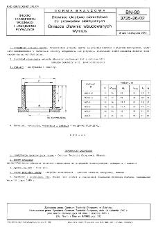 Dławice okrętowe niemetalowe do przewodów elektrycznych - Gniazda dławic wbudowanych - Wymiary BN-90/3725-26/02