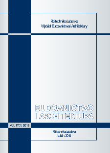 Budownictwo i Architektura Vol. 17(1)2018