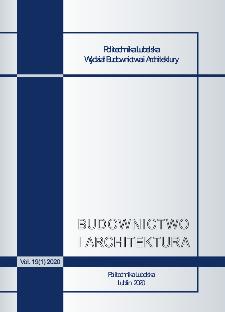 Budownictwo i Architektura Vol. 19(1)2020