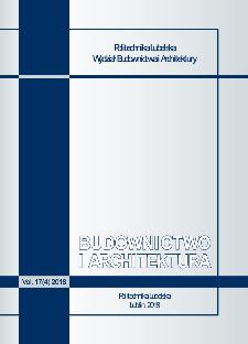 Budownictwo i Architektura Vol. 17(4)2018