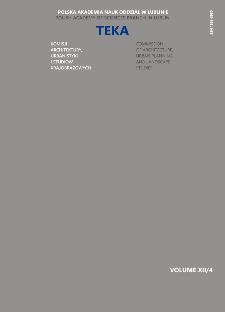Teka Komisji Architektury, Urbanistyki i Studiów Krajobrazowych = Teka Comission of Architecture, Urban Planning and Landscape Studies. Volume XII/4
