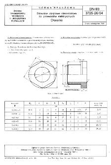 Dławice okrętowe niemetalowe do przewodów elektrycznych - Dławiki BN-90/3725-26/04