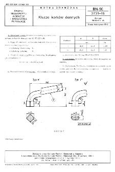 Klucze korków dennych BN-90/3731-46