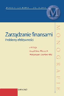 Zarządzanie finansami : Problemy efektywności