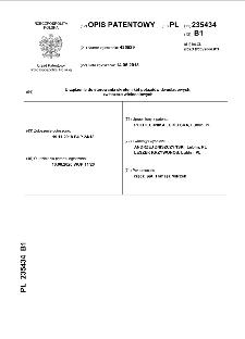 Urządzenie do sterowania skrętem kół pojazdów dwuśladowych, zwłaszcza wieloosiowych : opis patentowy nr PL 235434