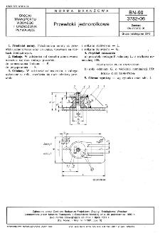 Przewłoki jednorolkowe BN-90/3782-06