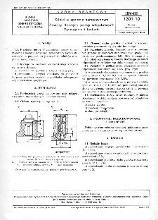 Silniki o zapłonie samoczynnym - Zawory tłoczące pomp wtryskowych - Wymagania i badania BN-82/1301-10