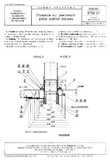 Przejścia rur piecowych przez pokład stalowy BN-90/ 3792-01
