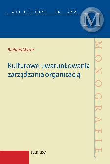 Kulturowe uwarunkowania zarządzania organizacją