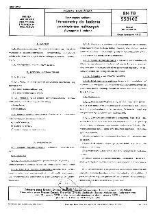 Termometry szklane - Termometry do badania przetworów naftowych - Wymagania i badania BN-78/5531-02