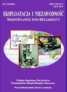 Eksploatacja i Niezawodność = Maintenance and Reliability Nr 2 (34)2007