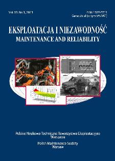 Eksploatacja i Niezawodność = Maintenance and Reliability Vol. 15 No. 1, 2013