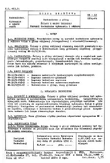 Budownictwo z gliny - Ściany z gliny ubijanej - Warunki techniczne wykonania i odbioru BN-62/8841-04
