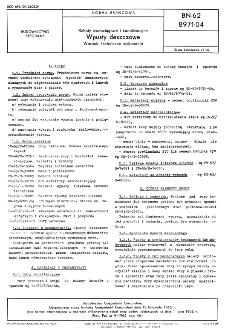 Roboty wodociągowe i kanalizacyjne - Wpusty deszczowe - Warunki techniczne wykonania BN-62/8971-04