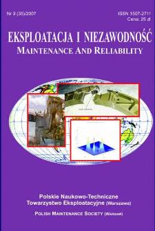 Eksploatacja i Niezawodność = Maintenance and Reliability Nr 3 (35)2007