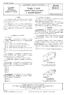Cegły i bloki cementowo-gliniane z wypełniaczami BN-62/9012-01