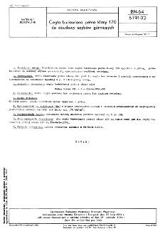 Cegła budowlana pełna klasy 170 do obudowy szybów górniczych BN-64/6791-02