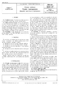 Roboty tynkowe - Tynki nakrapiane - Warunki techniczne wykonania BN-64/8841-07
