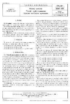 Roboty tynkowe - Tynki cyklinowane - Warunki techniczne wykonania BN-64/8841-09