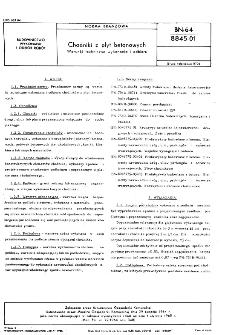 Chodniki z płyt betonowych - Warunki techniczne wykonania i odbioru BN-64/8845-01
